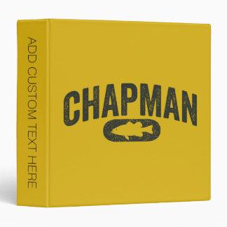 Chapman Bass Fishing Logo - Vintage Mustard Yellow Binder