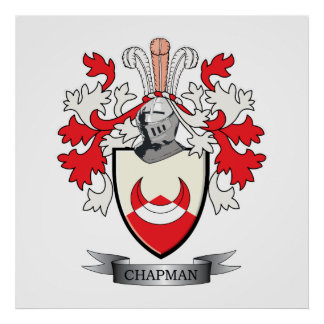 Chapman Coat of Arms Poster
