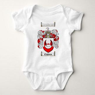 CHAPMAN FAMILY CREST -  CHAPMAN COAT OF ARMS BABY BODYSUIT