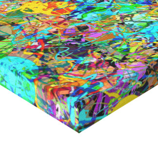 Chapoteo abstracto de la pintura impresiones en lona estiradas