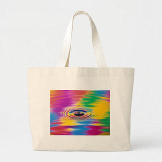 chapoteo abstracto de los colores del color bolsa de mano