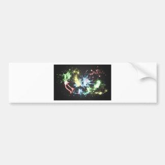 Chapoteo abstracto del color etiqueta de parachoque