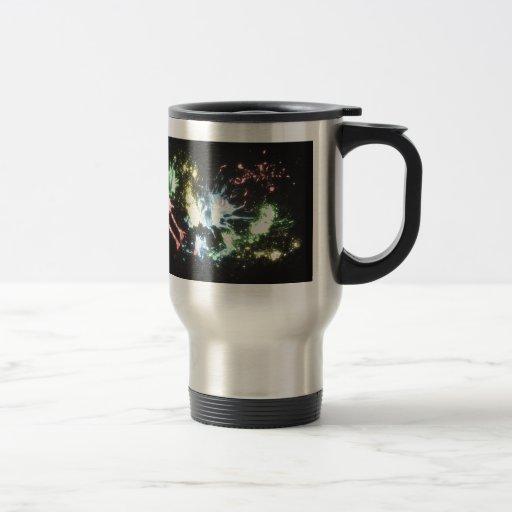 Chapoteo abstracto del color taza de café