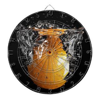 Chapoteo anaranjado tablero dardos