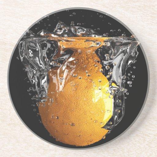Chapoteo anaranjado posavasos cerveza