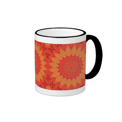 Chapoteo anaranjado taza de dos colores