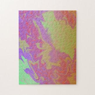 Chapoteo artsy colorido puzzles con fotos