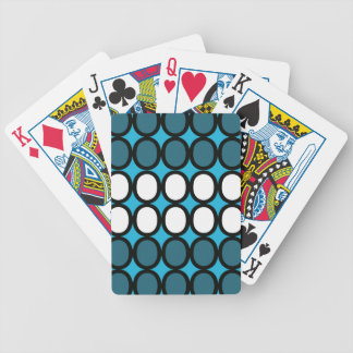 Chapoteo azul de los o baraja de cartas bicycle