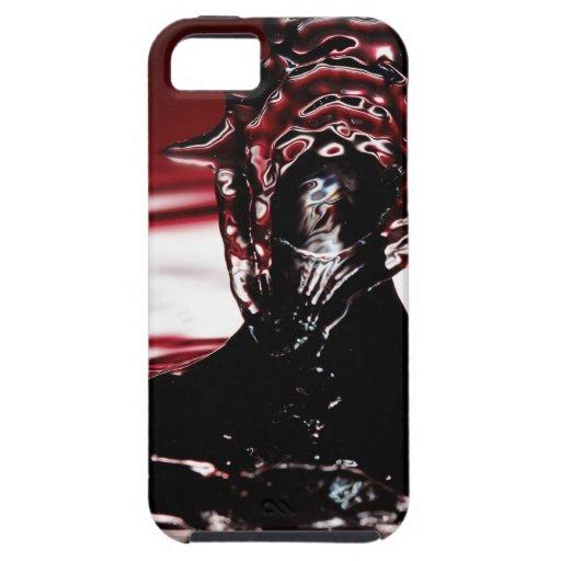 Chapoteo carmesí rojo del descenso del agua iPhone 5 Case-Mate protector