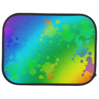 chapoteo colorido del agua alfombrilla de auto