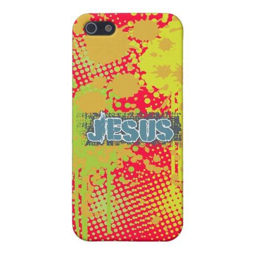 Chapoteo concreto de Jesús por los chrisitanstores iPhone 5 Carcasa