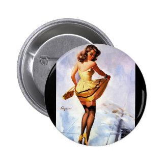 Chapoteo de Gil Elvgren del vintage en el chica mo Pin