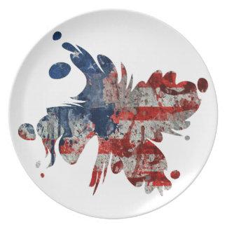 Chapoteo de julio platos de comidas