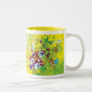Chapoteo de la acuarela tazas de café