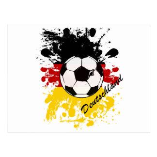 Chapoteo de la bola de Deutschland Tarjetas Postales
