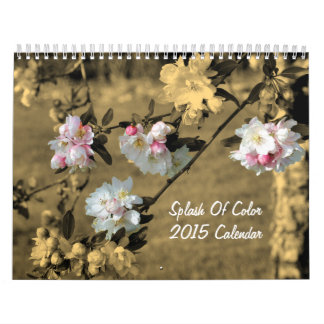 Chapoteo de la fotografía 2015 de la naturaleza calendarios