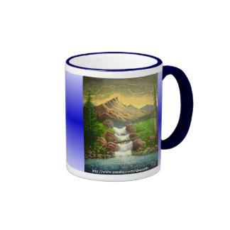 Chapoteo de la ladera (personalizable) taza de dos colores