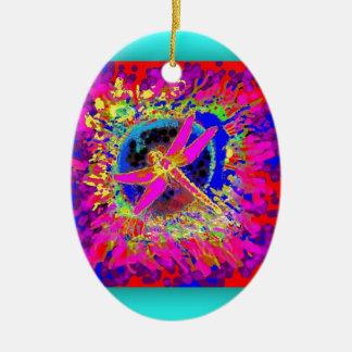 Chapoteo de la libélula por Sharles Ornamento De Navidad