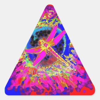 Chapoteo de la libélula por Sharles Calcomanías De Triangulos Personalizadas