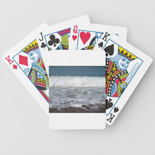 Chapoteo de la línea de la playa baraja de cartas