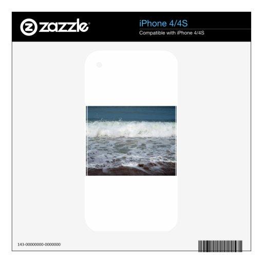 Chapoteo de la línea de la playa skin para el iPhone 4