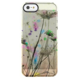 Chapoteo de la naturaleza del prado funda clearly™ deflector para iPhone 5 de uncommon