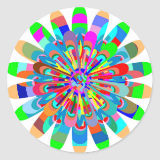 Chapoteo de la pintura del festival de primavera pegatina redonda