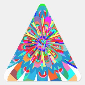 Chapoteo de la pintura del festival de primavera pegatina triangular