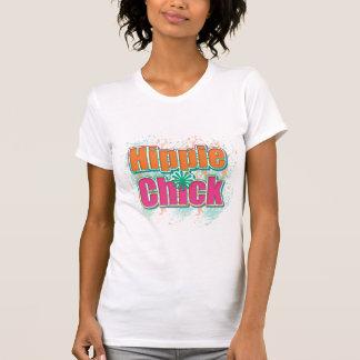 Chapoteo de la pintura del polluelo del Hippie Camisetas