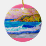 chapoteo de la playa de Laguna Adorno De Navidad