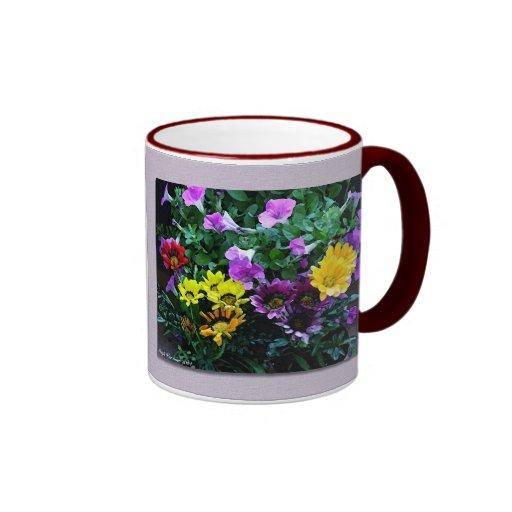 Chapoteo de la primavera - acuarela taza a dos colores