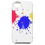 Chapoteo de los colores primarios iPhone 5 Case-Mate cobertura