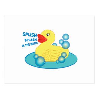 ¡Chapoteo de Splish en el baño! Postales