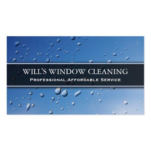 Chapoteo del agua, limpiador de ventana azul - plantillas de tarjetas personales