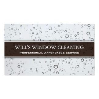 Chapoteo del agua, limpiador de ventana blanco - tarjetas de visita
