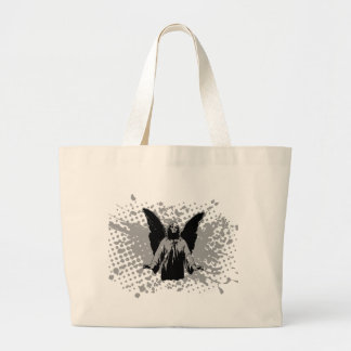 Chapoteo del aterrizaje del ángel, negro por chris bolsa tela grande