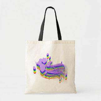 chapoteo del color bolsa de mano