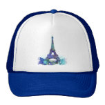 Chapoteo del color de Eiffel del viaje del La Gorros
