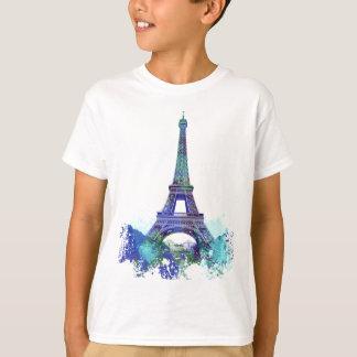 Chapoteo del color de Eiffel del viaje del La Playera