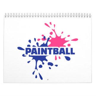 Chapoteo del color de Paintball Calendario