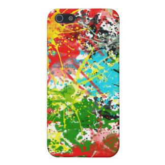 Chapoteo del color iPhone 5 carcasas