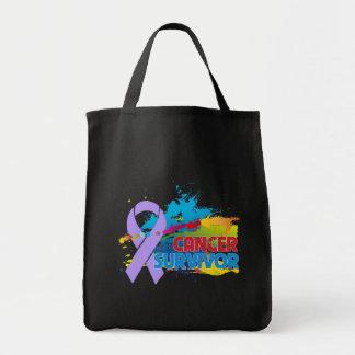Chapoteo del color - superviviente del cáncer bolsas