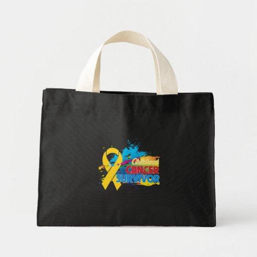 Chapoteo del color - superviviente del cáncer de l bolsa lienzo