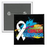 Chapoteo del color - superviviente del cáncer de p pin