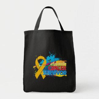 Chapoteo del color - superviviente del cáncer del  bolsas