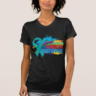 Chapoteo del color - superviviente del cáncer camiseta