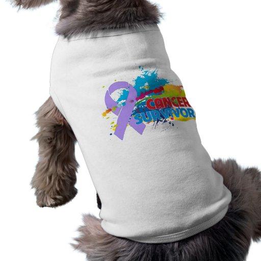 Chapoteo del color - superviviente del cáncer camisas de perritos