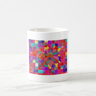 Chapoteo del color tazas de café