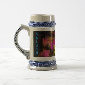 Chapoteo del color taza de café