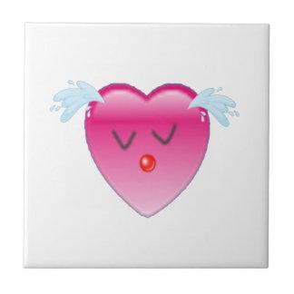 Chapoteo del corazón azulejo cuadrado pequeño